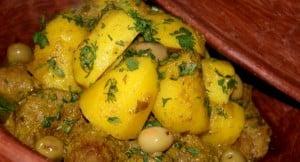 Tajine à la viande et pommes de terre